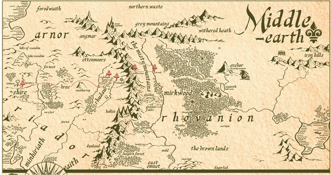 a comparison of middle earth and our world in the hobbit by jrr tolkien While recovering in 1917, tolkien developed the book of lost tales, the stories that would later form his mythology of middle-earth, the silmarillion tolkien lost all but one of his good friends in the war.
